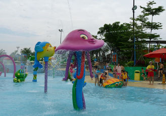 Summer Theme Park Swimming Pool Octopus Spray Aqua Park Equipment With Fiberglass