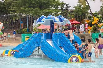 China Funny Kids Water Park Playground Slides supplier
