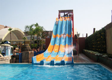 Aqua Play Swimming Pool Water Slides Open Rainbow Fiberglass Multi Lanes