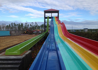 Fiberglass Colorful Water Slide Outdoor Long Multi Lane For Racing