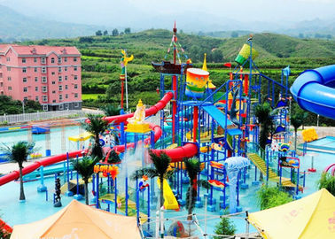 Children Water Aqua Playground , Customized Fiberglass Water Slide