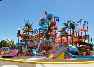 Holiday Resort Water Play Equipment Commercial FRP For Parent - Child