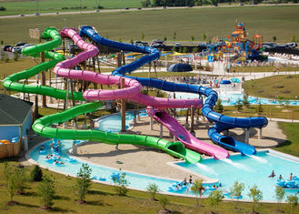 Fiberglass Tube Water Slide Outdoor Amusement Waterpark For Adult