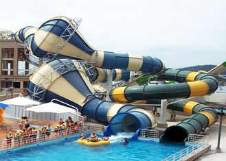 Giant Custom Water Slides Commercial Aqua Playground Open / Close Style Combined