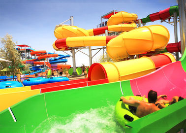 Adult Outdoor Water Slides Large Customized For Holiday Resort / Aqua Park