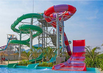 Boomerang Fiberglass Water Slide Giant Aqua Park Equipment FRP 12m Height