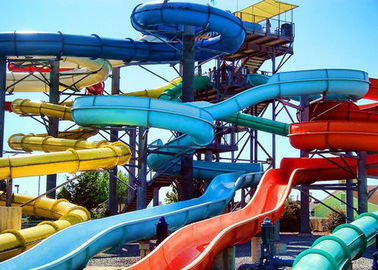 Holiday Resort Water Slide Amusement Park Fiberglass Swimming Pool Classic Slide