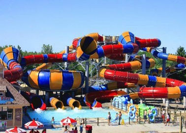 Outdoor Giant Water Slide Tantrum Valley Space Bowl Colorful FRP Slide