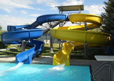 Custom Spiral Pool Slide Entertainment Equipment For Water Sport Games