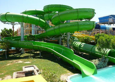 Kids / Adult Family Water Slide , Fiberglass Pool Outside Water Slides