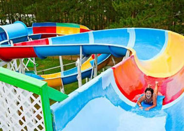 Family Open Spiral Slide Outdoor Custom Size For Aqua Park Resorts