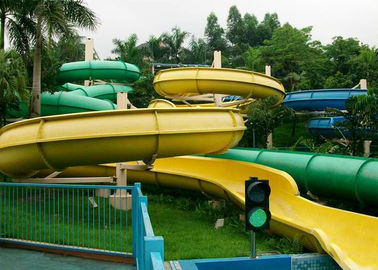 Outdoor Commercial Theme Park Water Slide Customized For Kids And Adults