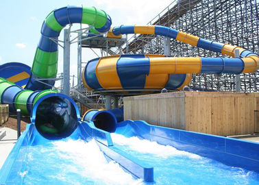 Custom Construction , Fiberglass Super Bowl Water Slide For Swimming Pool