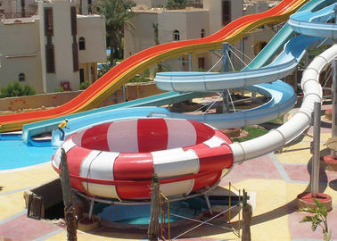 Mix Color Outdoor Space Bowl Water Slide For Swimming Pool