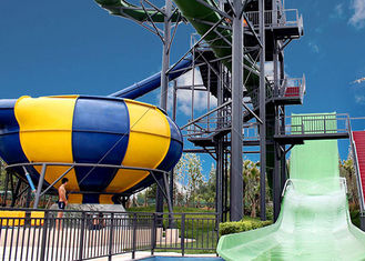 Huge Space Bowl Water Slide Playground / Commercial Water Slide Equipment