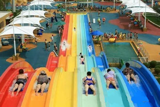Classic Adult Rainbow Race Water Park Slide / Water Sports Equipment