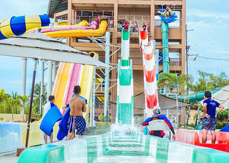 High Speed Water Slides Funny Swimming Pool Water Amusement For Holiday Resort Visitors