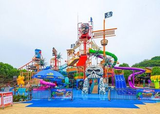 Aqua Park Playground Equipment / Amusement Theme Water House For Resort