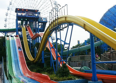 High Speed Kamikaze Water Slide With Straight Steep Drop For Hotel