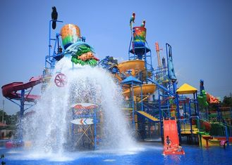 Interactive Castle Aqua Playground Water Theme Park For Entertainment