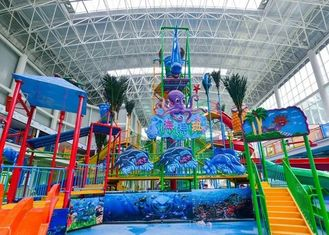 Colorful Amusement Park Water House Aqua Playground Fiberglass Material Durable