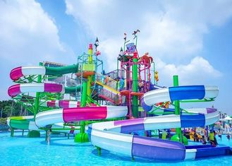 Custom Funny Security Children Water Playground Over 50 Persons Capacity