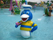 Donald Duck Customized Spray Aqua Play Water Game Fiberglass Water Park Equipment