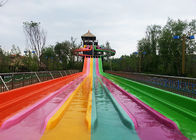 Multi Lane Racing Rainbow Water Slide Fiberglass Outdoor Spray Park Games Equipment