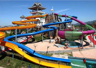 China Water Sports Fiberglass Water Slide , Family Entertainment Giant Pool Slide factory