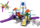 OEM Fiberglass Water Park Construction , Kids Water Playground Equipment System