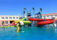 Children Play Water Park Construction , 9.5*6.5m Kids Water Playground Equipment
