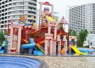 Big Steel Aquatic Play Structures Water House For Amusement Park