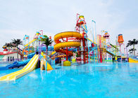 China Customized Huge Water Play Equipment Multi Color And Shape Water Slide factory