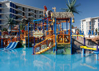 China Colorful Outdoor Aquatic Play Equipment 12m Height Fiberglass Slide factory