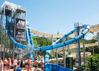 China Spiral High Speed Water Slide , Outdoor Thrilling Adult Aqua Loop Slide factory