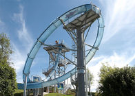 Commercial Water Park Slide Customized Fiberglass Material Steel Structure