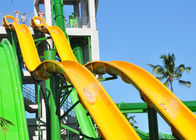 18m Height Tall Water Slides Fiberglass Customized For Holiday Resort