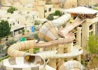 Huge Fiberglass Water Slide Adults Swimming Pools Extreme Games Slide