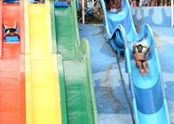 China Muti - Color Racing Outdoor Fiberglass Water Slides For Youth / Children company
