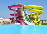 Fiberglass Children'S Water Slide Blue / Yellow / Customized For Water Park
