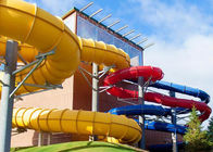 Attractive Spiral Open Tube Water Park Water Slide 1m Diameter 3 Guests Per Time