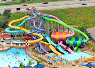 Interactive Family Water Slide , Adult Fiberglass Residential Pool Slides