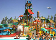 Water House Theme Park Construction Platform 21*18*9m Family Fun Water Slide