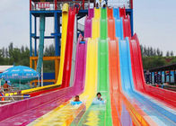 Racing Extreme Water Slides 12m Height Fiberglass For Resorts Pool
