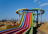 China Extreme Fiberglass Water Slide , Swimming Pools Whizzard Rainbow Water Slide factory
