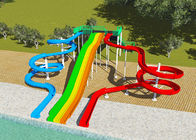 China Commercial Water Park Design Slides , Spiral FRP Water Play Design factory