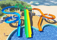 Personalized Household Water Park Design Multicolors Fiberglass Body