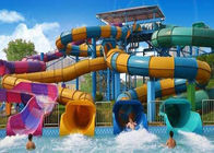 Colorful Custom Water Slides , Theme Park Commercial Fiberglass Water Slides