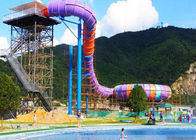 China Water Sports Tube Water Slide , Large Swimming Pools Super Bowl Slide factory