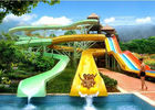 Outdoor Spiral Tube Cool Water Slides Holiday Resort Water Park Equipment